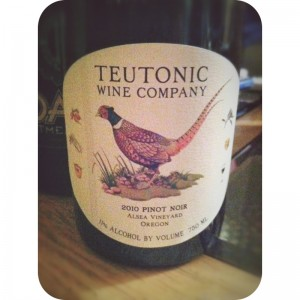 Teutonic Wines Alsea Vineyard Pinot Noir