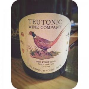 Teutonic Wines Alsea Vineyard Pinot Noir