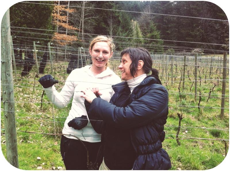 Annie & Olga in the Alsea Vineyard