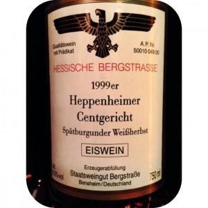 1999 Spätburgunder Weißherbst Eiswein, Heppenheimer Centgericht, Hessische Staatsweingüter